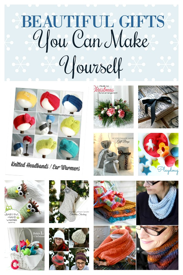 10 DIY Gifts You Can Make for the Holidays that everyone will love! Useful and fun for kids and adults. Projects for knitting, crochet, sewing and crafting.
