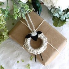 Easy Peasy Crochet Lamb Ornaments