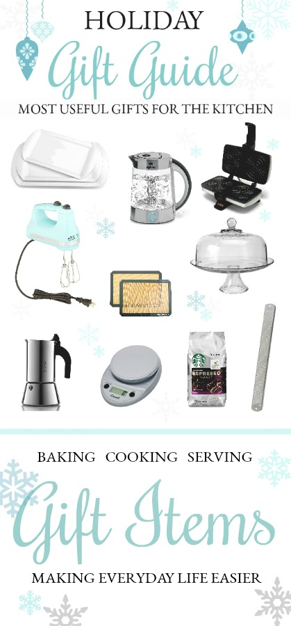 Holiday gift guide, most useful gifts features 10 of the most useful items for the kitchen. Appreciated gifts to make everyday life easier.