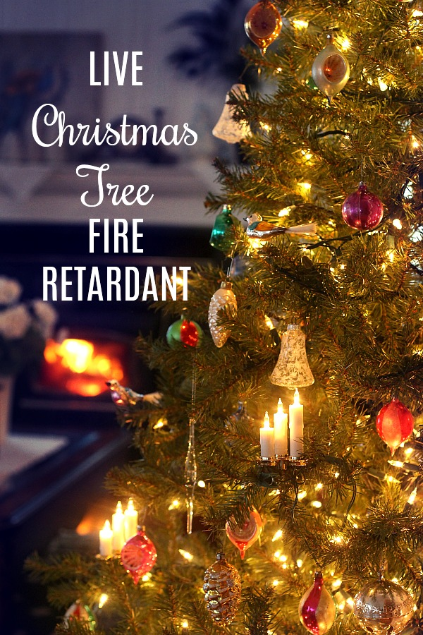 Keep your family and home safer with this easy recipe for Christmas tree fire retardant. Helps tree maintain freshness longer for a safe and happy holiday.