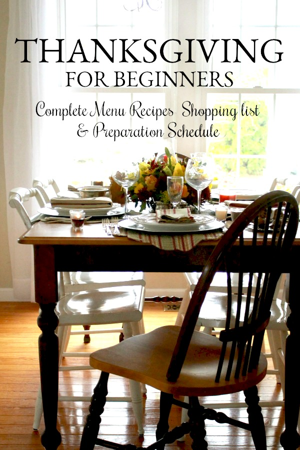 Even a novice can create a lovely feast with Thanksgiving Dinner for Beginners. Complete with recipes, shopping list and preparation schedule.