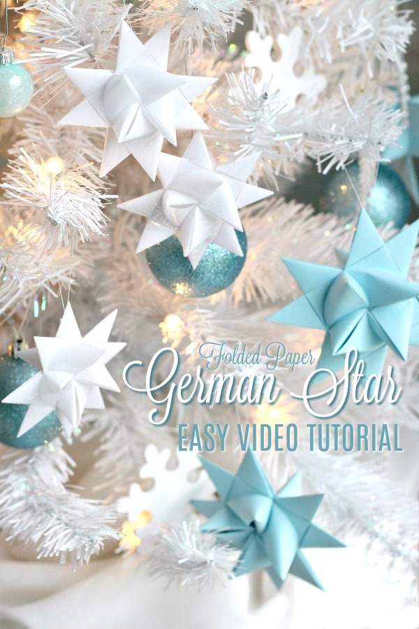 Learn to make German Star paper Ornaments with easy to follow How-To video. Three-dimensional star made by weaving and folding about forty steps.