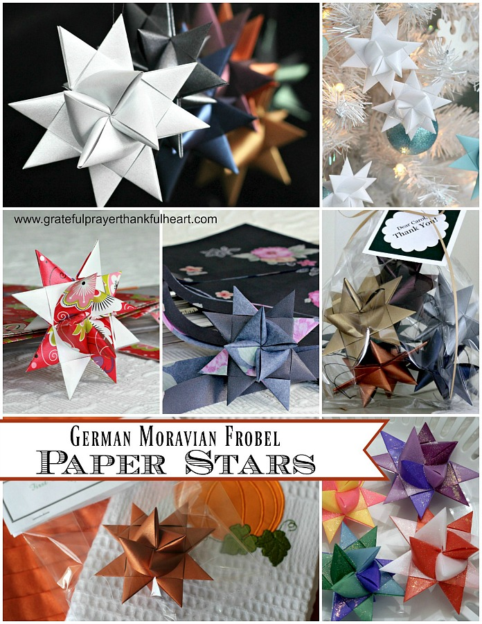 German star paper ornaments tutorial video shows you how to make lovely 3-dimensional stars by weaving and folding paper strips in about forty steps.
