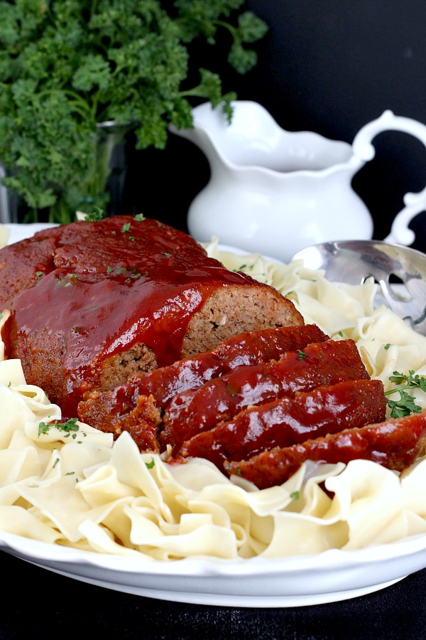 Sweet and Sour Meatloaf is an all-time favorite comfort food. Easy and delicious with a tangy, sauce poured on the top and baked until bubbly.