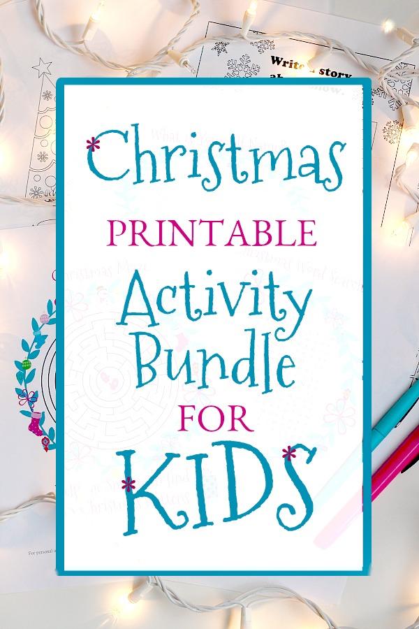 Christmas Printable Activity Bundle For Kids Grateful