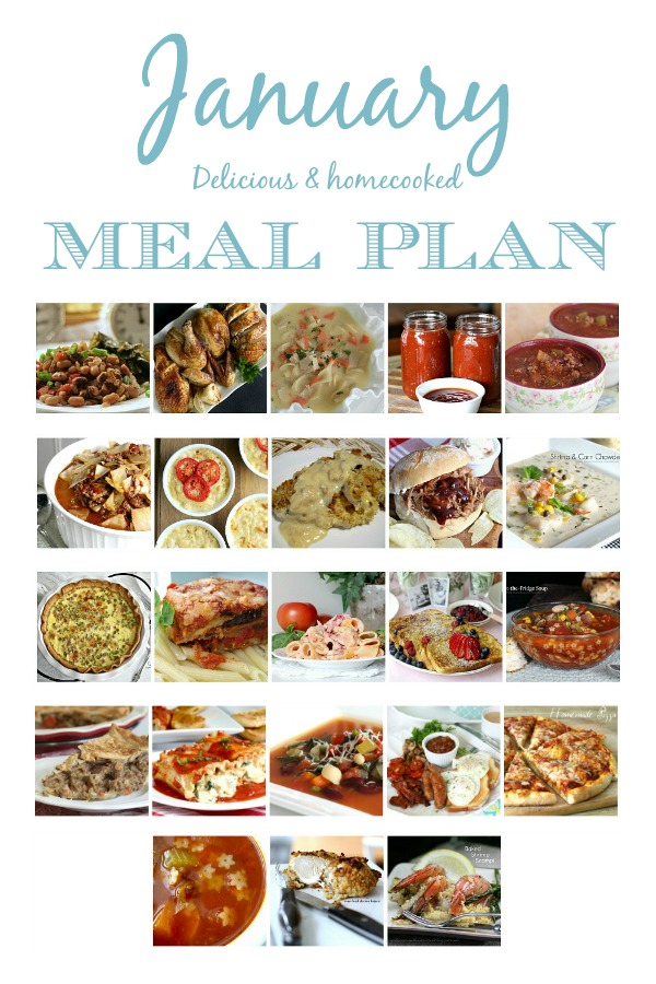Save time and money following a meal planner with links to all recipes. Delicious January or winter dishes you and your family will love. Wholesome, delicious and homemade.