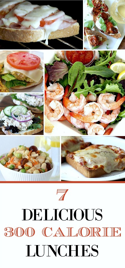 Don't skip lunch or nutrition. Enjoy these tasty, healthy and easy, 7 Satisfying, 300 Calorie Lunches to keep you full and happy throughout your busy day.
