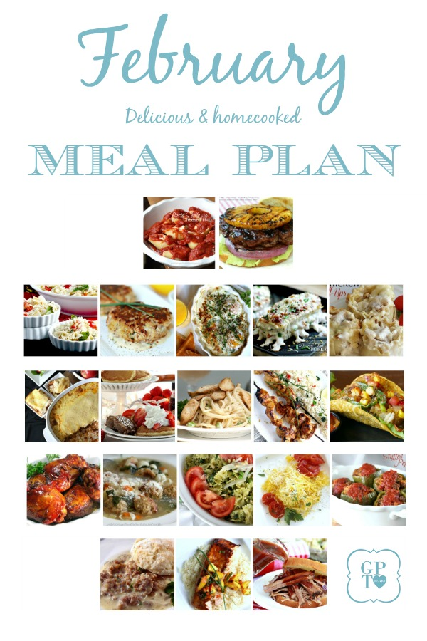 Save time and money following a meal planner with links to all recipes. Delicious February or winter dishes meals you and your family will love. Wholesome, healthy, delicious and homemade.