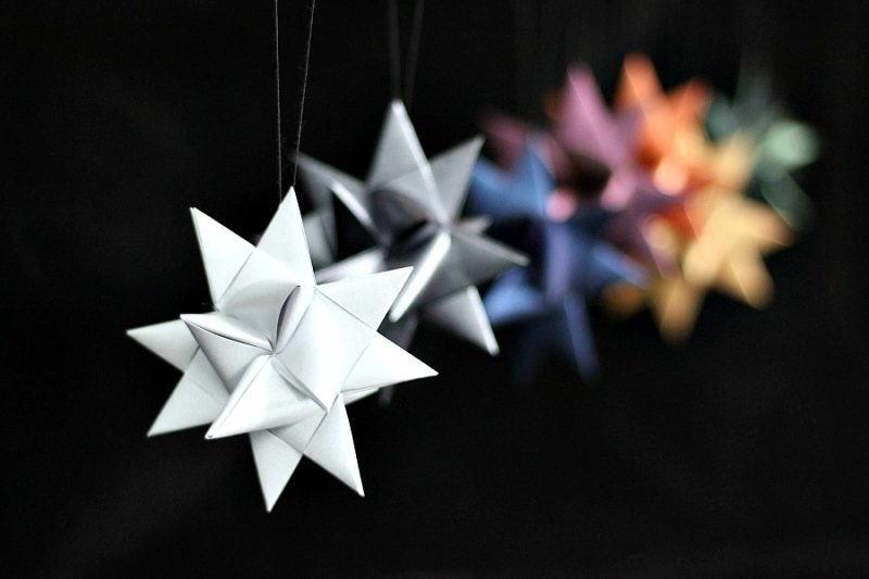 Folded paper German Star tutorial