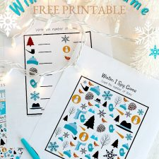 Winter I Spy Game FREE Printable and Stuck-Inside Kid Activities