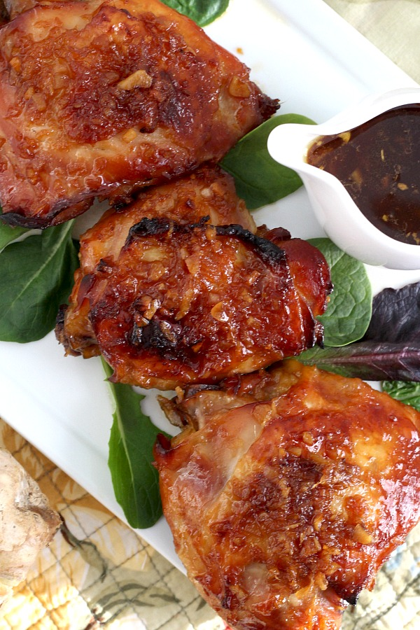Easy recipe for baked Indonesian ginger chicken with a sticky and delicious sauce. Marinated chicken in a fresh ginger, garlic and soy sauce marinade is then bake until tender and moist. Serve over rice for a fabulous dinner.