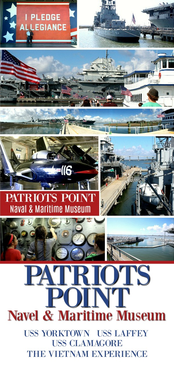 Patriots Point Naval & Maritime Museum, outside of Charleston, South Carolina, is a must-see for history buffs. Tour the Yorktown aircraft carrier, USS Laffey destroyer and Clamagore submarine. Don't miss the Vietnam experience. Take the ferry to Fort Sumter and finish an educational and exciting day with a helicopter ride.