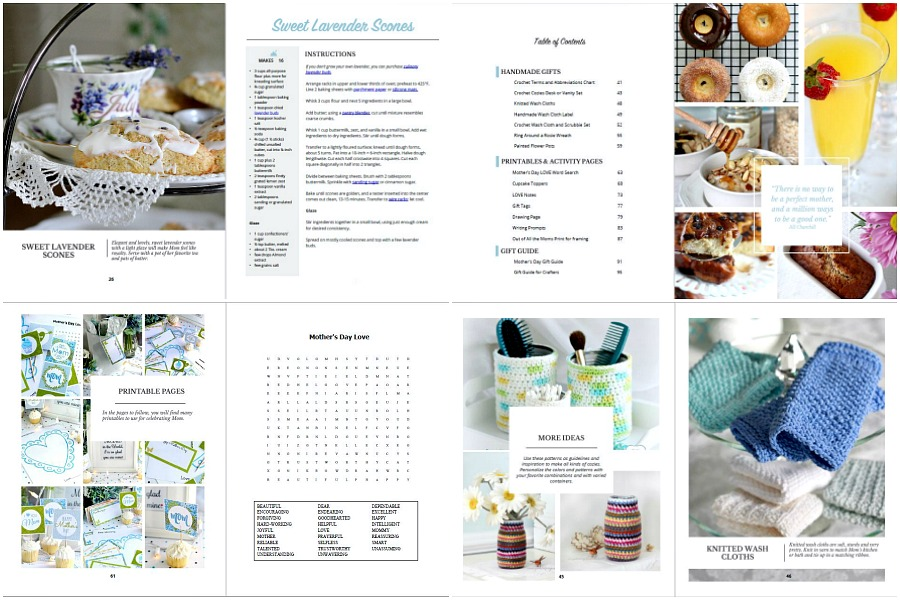 Celebrating Mother's Day is so easy with this planning guide. A collection of yummy brunch recipes, handmade craft projects, helpful gift guides and heartwarming printables for games, notes, letters and food toppers. Make Mom feel totally loved and appreciated for all she does.