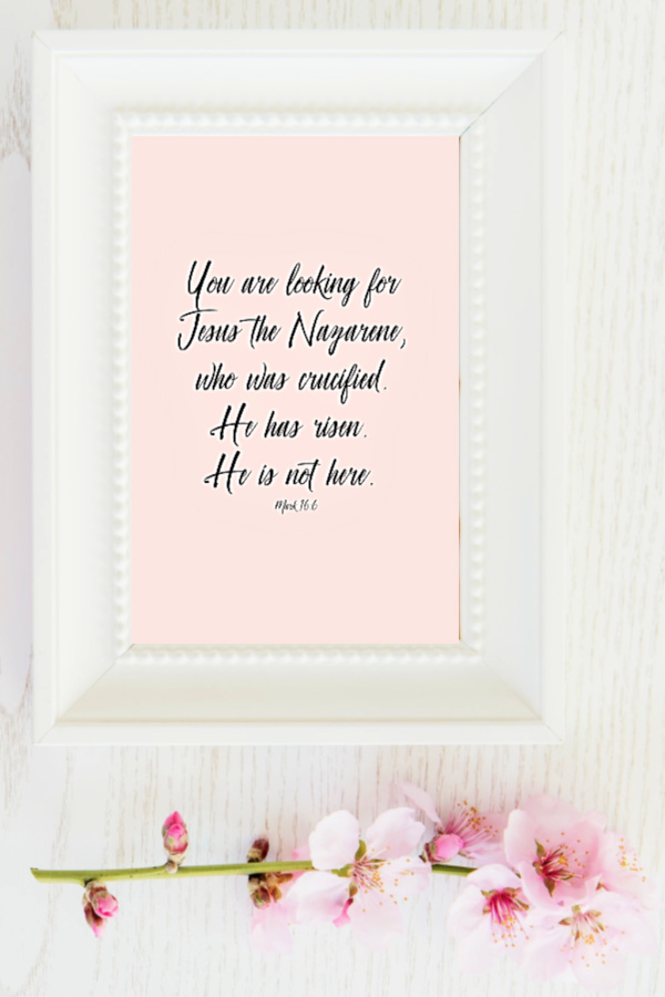 Celebrate Easter with a collection of free resurrection bible verse printables to frame for inspiration, to gift or use as holiday décor.