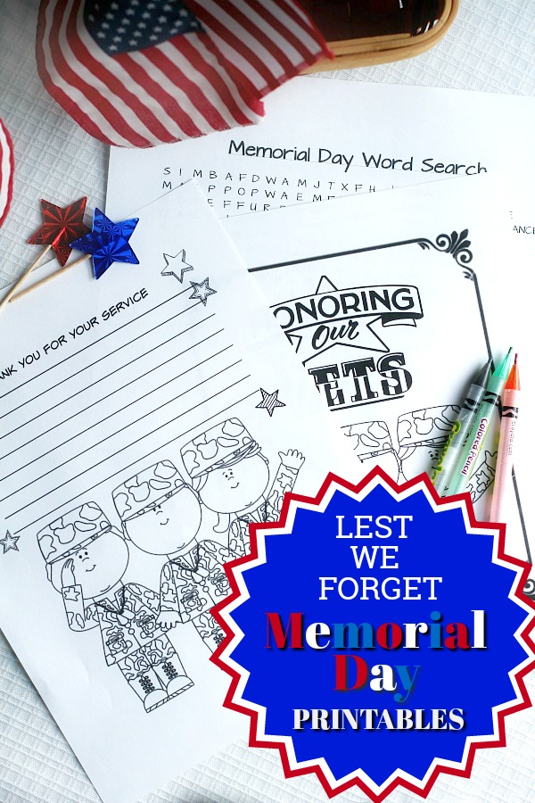graphic regarding Memorial Day Word Search Printable named Memorial Working day Thankful Prayer Grateful Centre