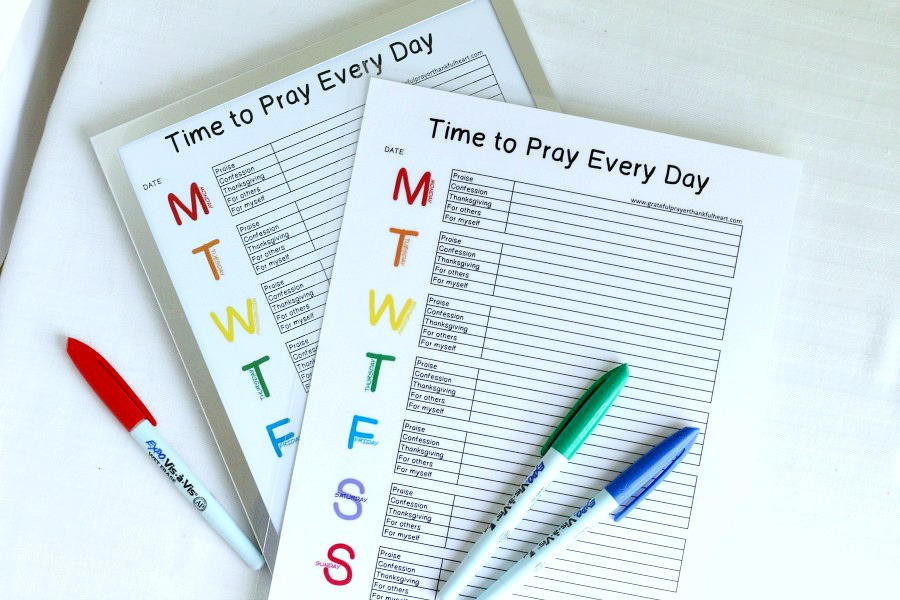 Most moms agree that teaching kids to pray is an important responsibility. One that will lead them through life as they learn to seek, depend and lean on God in the good and the hard times. Developing a pattern of daily prayer and knowing how and what to pray about can be a challenge for grownups and kids alike. Use this colorful, Time to Pray Every Day printable to encourage kids in developing a lifelong joy spending time daily with the Lord.