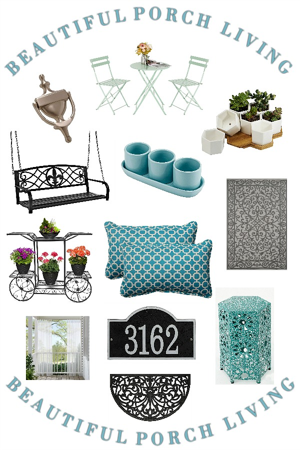 Beautiful porch and patio decorating inspiration for an inviting and welcoming home and curb appeal.