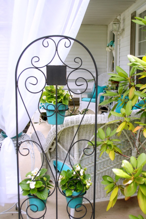 A little updating and decorating to give the front porch some curb appeal. Summer on the porch is the perfect place for quiet time or entertaining.