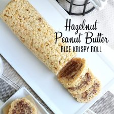 Hazelnut Chocolate & Peanut Butter Rice Krispies Roll
