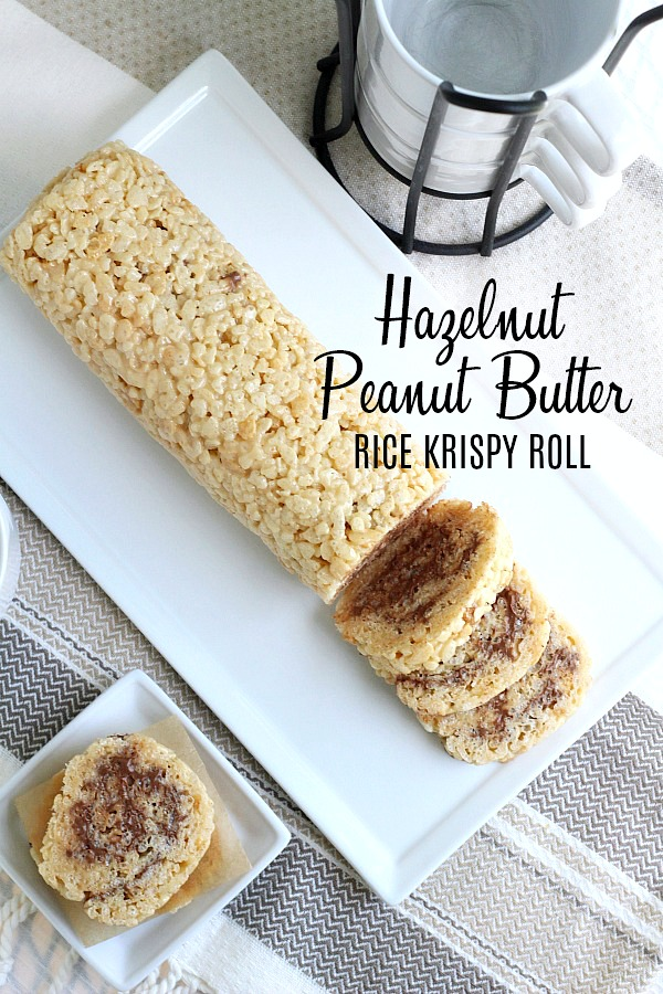 Easy recipe for Chocolate & Peanut Butter Rice Krispies Roll, fun treats for adults and kids.