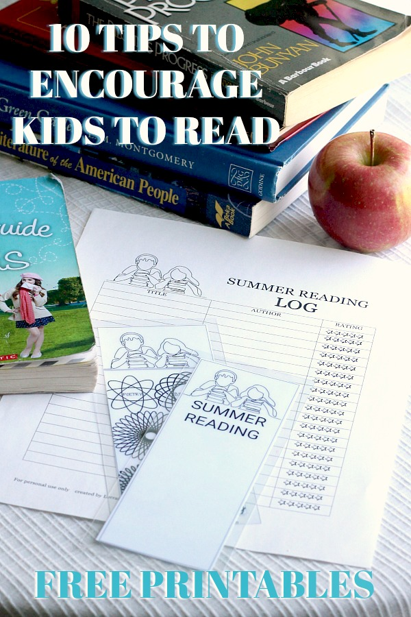 School is out! Get FREE printables, kids Summer Reading Log and Book Marks. With 10 Tips to Encourage Summer Reading.