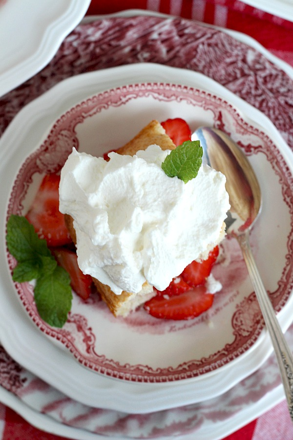 Oh, those lazy, hazy days of summer. Doesn't a bowl of strawberry shortcake sound like a lovely idea? This easy recipe for a summertime favorite is served with fresh, sliced strawberries and whipped cream for a delicious dessert.
