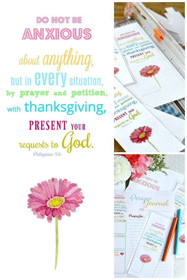 Use this cheerful Prayer Journal, bible verse and bookmark printable set as your diary with prompts for Scripture verses, counting blessings, ways to encourage and prayers. Keep in a notebook or bible.