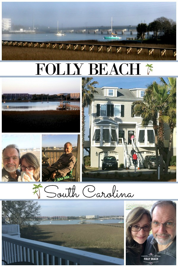 Charleston & Folly Beach Getaway Family Vacation. A lovely condo townhouse with kitchen and laundry facilities with a view of the harbor from patio. Relax, swim, serf and play on Folly Beach. South Carolina at its best for kids and adults.