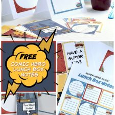 Comic Hero Lunch Box Notes