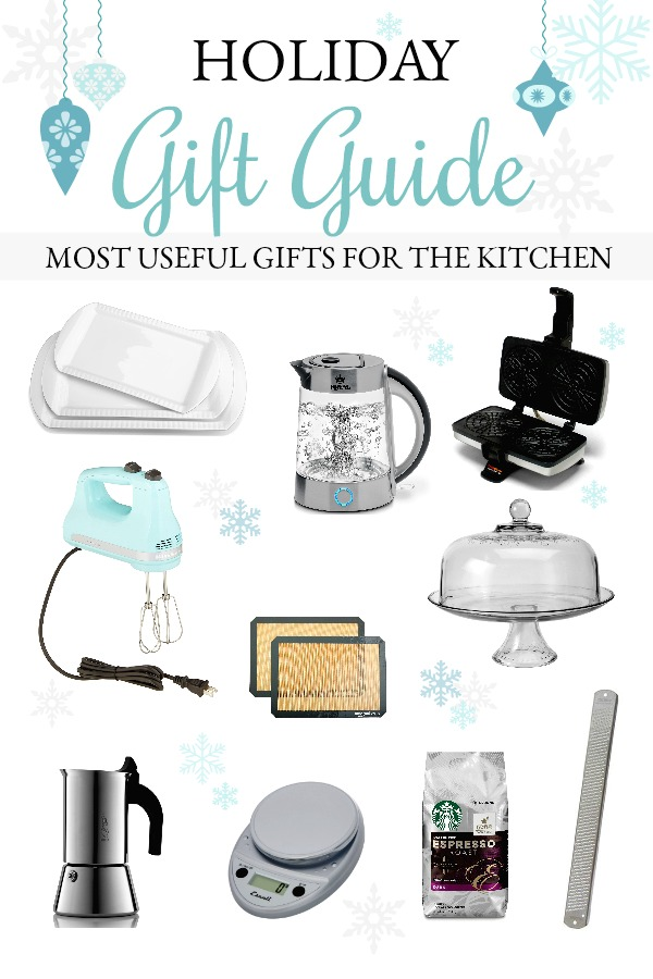 Holiday gift guide featuring 10 of the most useful items for the kitchen. Appreciated gifts to make everyday life easier.