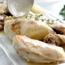 Poulet a la Creme ~ Chicken with Cream Sauce