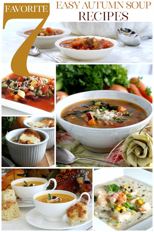 Brisk and windy days of autumn call for tummy filling, heart-warming and taste-satisfying soup.There's nothing like a steaming bowl of homemadesoupto warm you up on a coolfallday.The next time you're craving a meal that's comforting and delicious, make any of these 7 Favorite Autumn Soup recipes.
