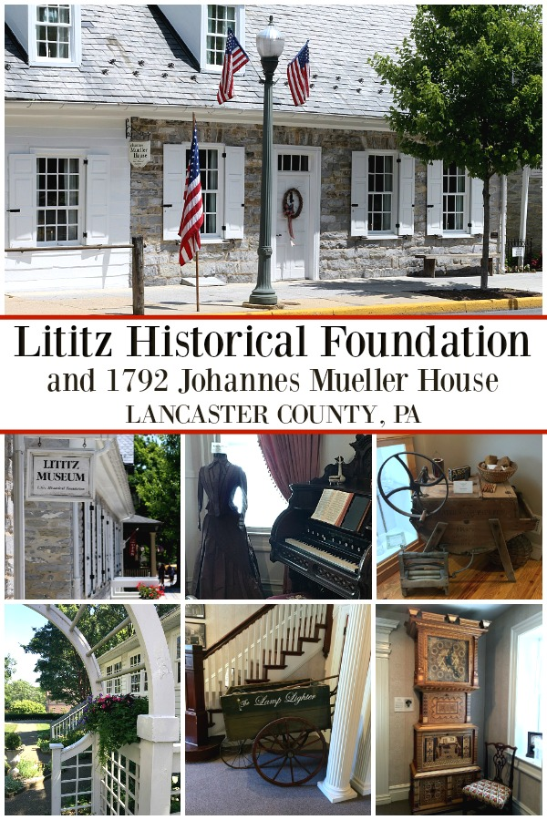 In picturesque Lancaster county, PA don't miss the little town of Lititz and the Historical Foundation as well as the 1792 Johannes Mueller House.