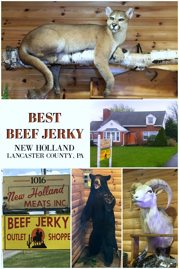 Looking for the BEST Beef Jerky? Check out New Holland meat market in Lancaster County, PA. included in this Pennsylvania Dutch visitor's guide.