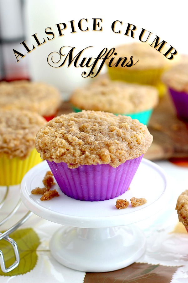 Allspice is one of those spices less common than cinnamon, cloves and nutmeg. It imparts a warm flavor similar to those and adds a lovely note to these deliciousAllspice Crumb Muffins. Conjuring thoughts of autumn, they are perfect for breakfast or snacking with a cup of coffee or a cold glass of milk.