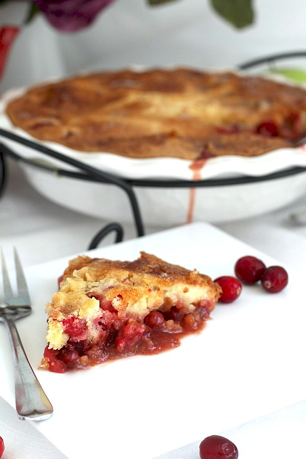 Easy to prepare, Cranberry Apple Cake is a little like cake and a little like pie. Full of autumn fruit, brown sugar and cinnamon, it is a perfect dessert.