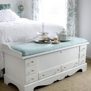 Refinished Cedar Chest with Chalk Paint