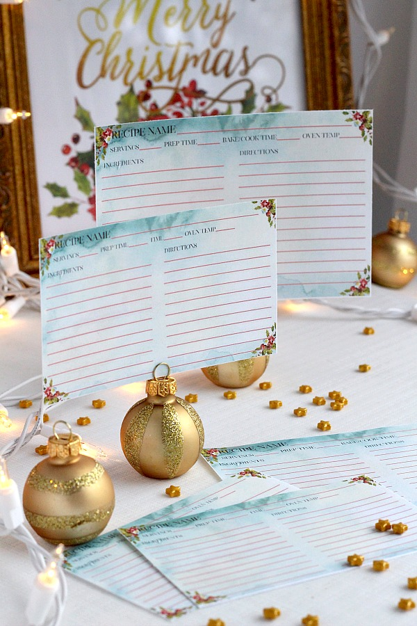 The ultimate holiday baking and gift-giving planner with all you need to take the stress away and stay perfectly organized. Lovely, matching gift tags and greeting cards, Cookie exchange Invitations, Recipe cards and prints to frame, December calendar, Baking schedule, Shopping list, Newsletter page, Bookmarks, How-to double a recipe cheat sheet and more!