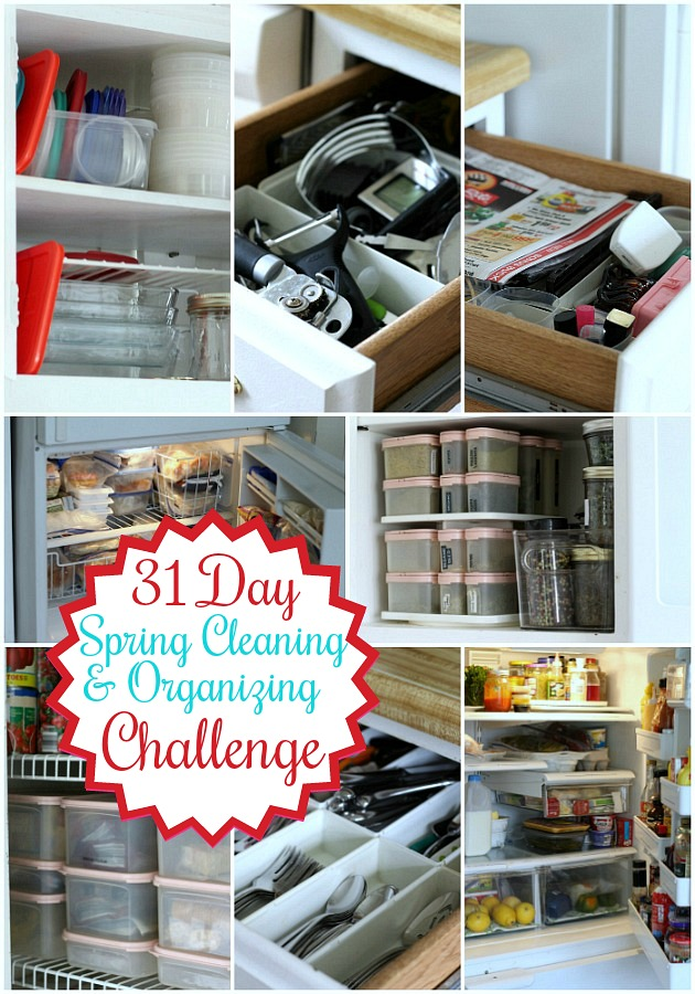 Spring has sprung and as we embrace its freshness we might find that our home needs a little refreshing as well. Work through those messy & disorganized areas a little each day with a 31 Day Spring Cleaning and Organization Challenge. Feel great and accomplished with this doable plan.