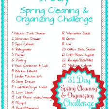 31 Day Spring Cleaning & Organizing Challenge