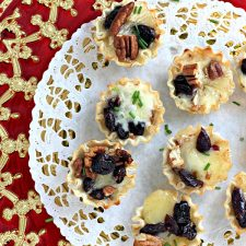 Brie Tartlets with Cranberries and Cherries