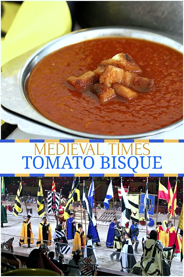 Worthy of the Queens approval and fit for her knights as they ready for a fencing duel is a delicious bowl of Medieval Times Tomato Bisque. Click for easy soup recipe and photos of a visit featuring jousting, swordsmanship, horsemanship and falconry.