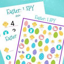 I Spy Easter Printable