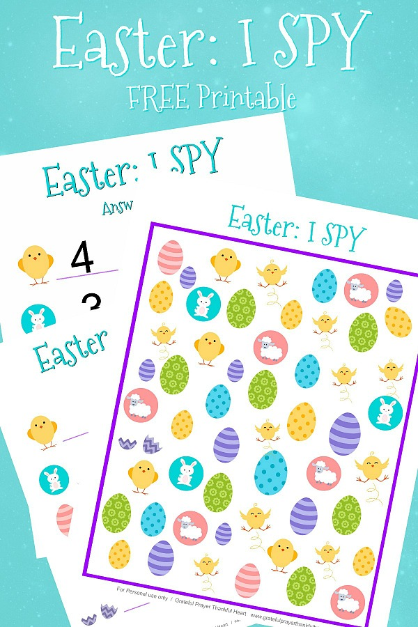 Having an activity to keep the little ones busy before or after your holiday dinner can sometimes be challenging. Kids will love this I Spy Easter Printable. It is a colorful and fun counting page that siblings and grandparents will enjoy as well.