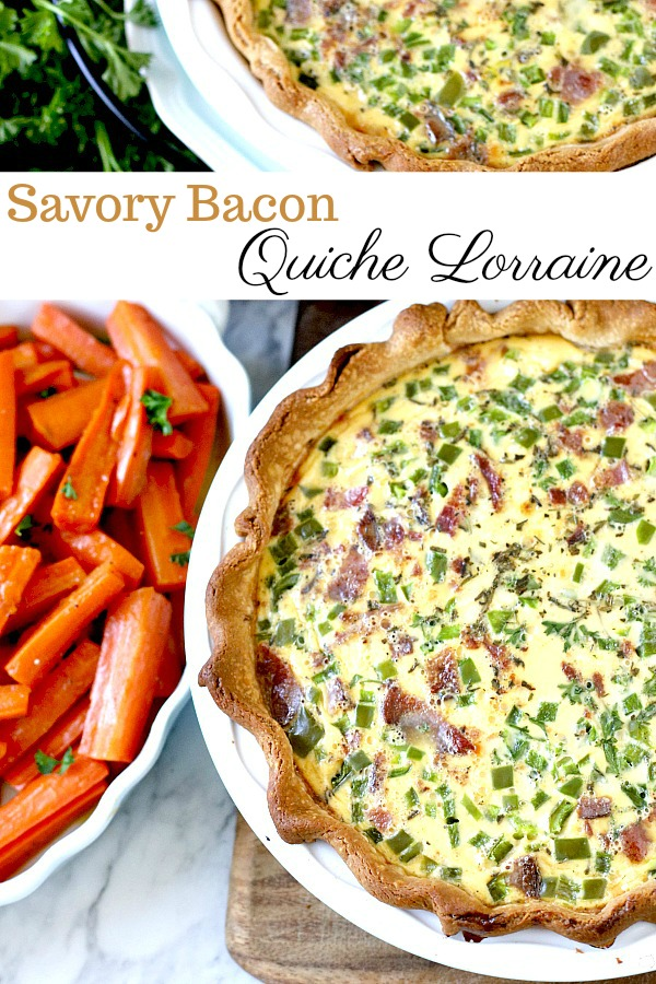 My favorite quiche is from a recipe given to me 40 years ago. It is easy to make and just right for breakfast, brunch, or dinner. A savory combination of Swiss cheese, bacon and veggies in a flaky crust. Instead of cream or half and half, it uses evaporated milk for the creamy filling.