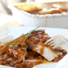 Hawaiian Pork Chops and Baked Beans