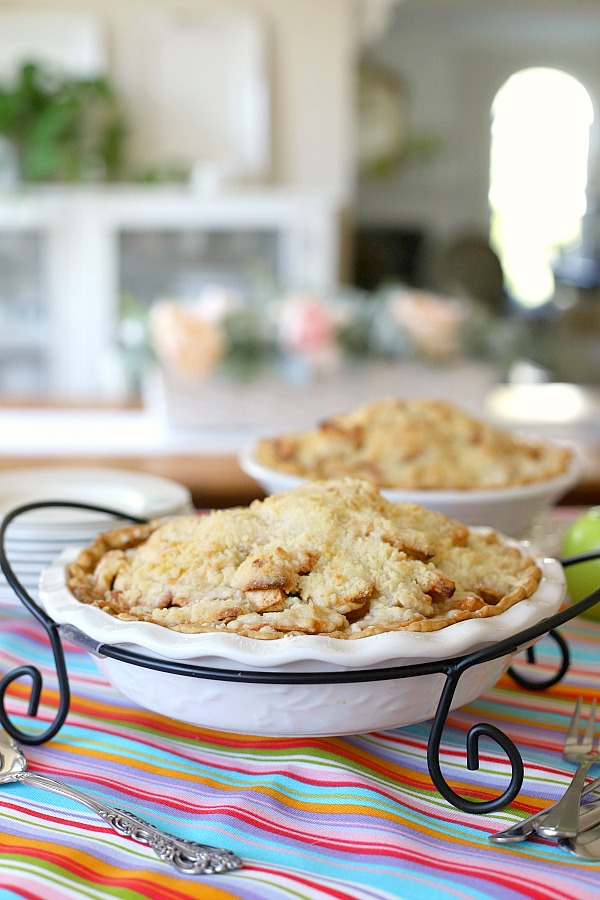 The beauty of classic apple crumb pie is not just that it is delicious but also that it is so easy! Tender apples bake up in a bottom crust with sweet and crumbly topping make this a keeper recipe.