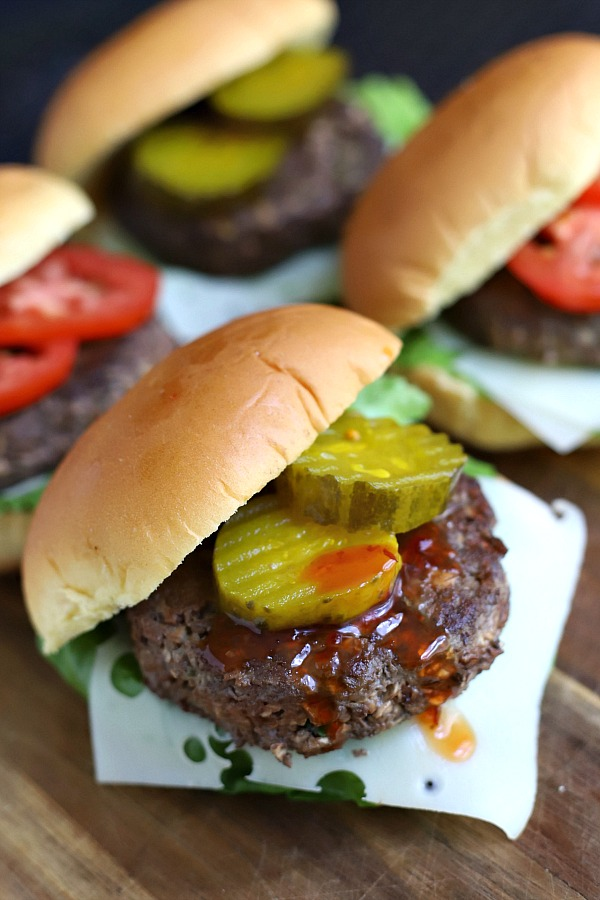 Healthy spin on a classic, a blended burger is moist and juicy using a combo of finely chopped mushrooms and ground beef. A perfect Umami mix that you will feel happy about enjoying!