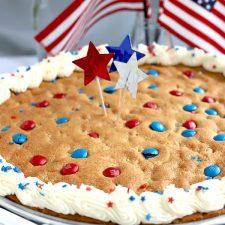 Patriotic Peanut Butter Cookie Pizza