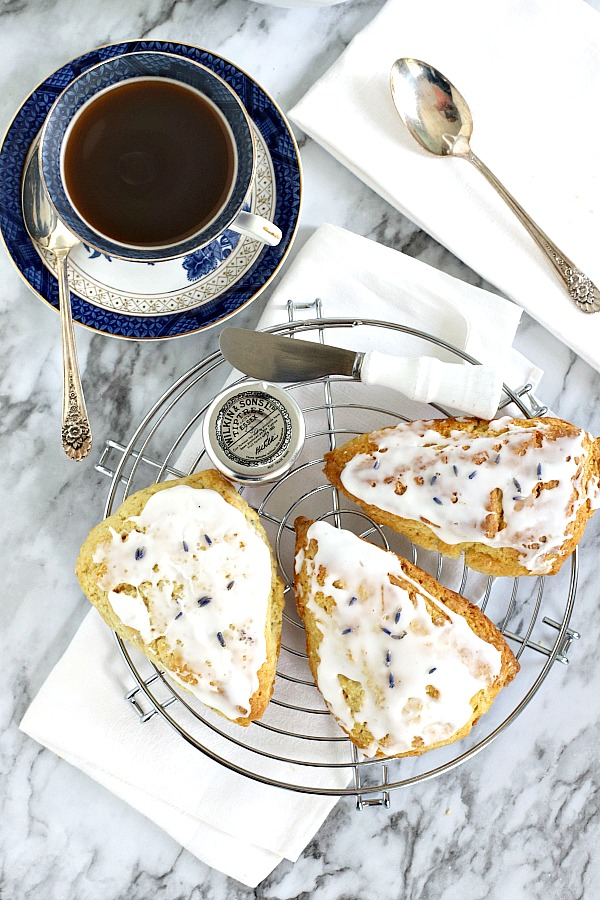 A lovely treat for a tea party, breakfast or snacking, sweet lavender scones use lavender buds to impart a hint of lavender flavor. Easy recipe to use the lavender in your herb garden.